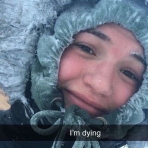 Ellen in snow