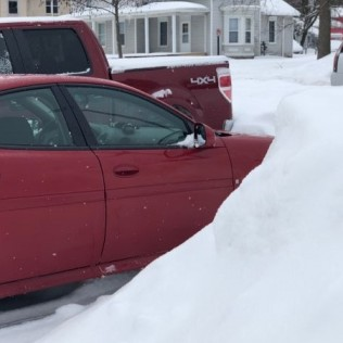 parked in drifts
